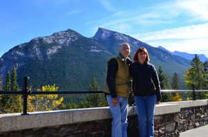From the terrace of the Banff Springs Hotel
