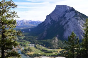 Banff Springs Golf course below - Bryn, don't you wish you could play this