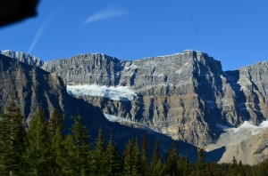 Our first glacier we saw - on the way to the Columbia Icefields on Friday