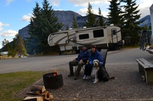 Campfire at our Banff site