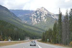 Heading West from Lake Louise - More majestic Rockies ahead!