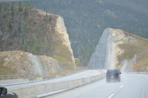 A section of Kicking Horse Pass