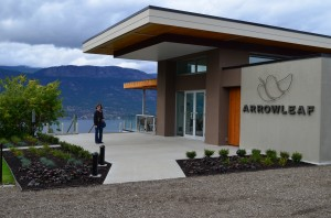 Arrowleaf Winery - Building just opened on Thanksgiving wkd.