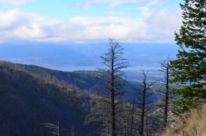 Looking down at Okanagan Lake