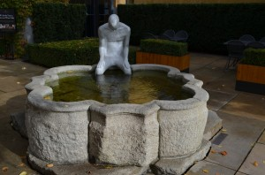 A 500 year old fountain moved from Austria - Mission Hill
