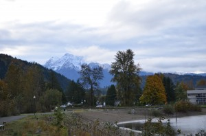 Mount Cheam - there was no snow on it two days ago