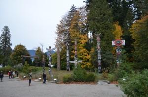 "Totem pole ""grove"" in Stanley Park"
