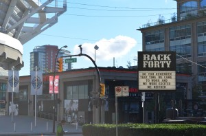 Check out the Back Forty sign (that was then)