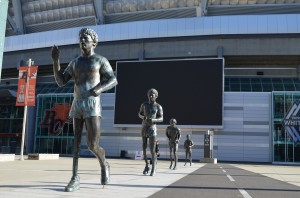 Terry Fox Plaza  -ironically we saw this BC hero's statue at the end of his journey in Thunder Bay