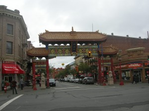 Chinatown in Victoria. Much nicer than in Vancouver.