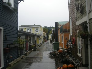 One of the streets in Fisherman's Wharf.