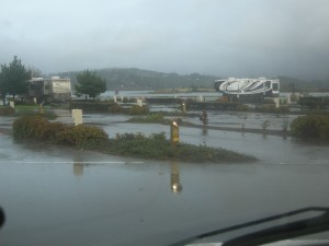 """The Mill Casino - Coos Bay - a nice RV spot but """"damp"""" as you can see."""