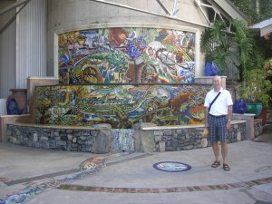 Mural in the City of Napa depicting the city's early days