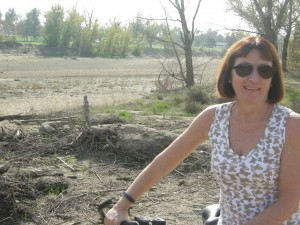 Going for a bike ride.