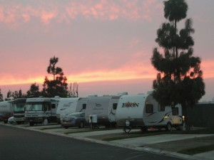 Bakersfield sunset - Dec 7
