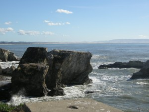 From Shell Beach looking back towards Pismo and the dunes beyond