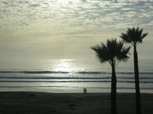Late afternoon silhouette - Pismo Beach