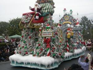 Santa has arrived in Disneyland