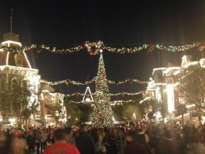 Main Street Disney at night