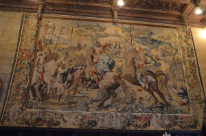 One of the tapestries in the Assembly room - at least 15' x 20'