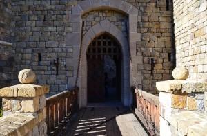 The drawbridge at the castle