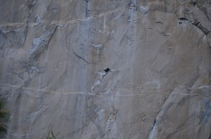 The climber's rest and sleeping pod - at 1,500' suspended by ropes