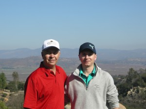 My golf buddy (Bryn) @ Mt. Woodson Golf Course - a tough course in the mountains