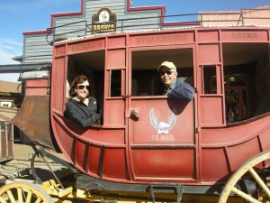 Stagecoach tour--tourists!
