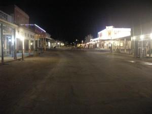 Nightfall on main street Tombstone
