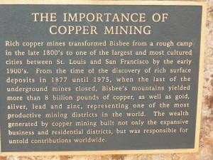 Bisbee's Copper mine history