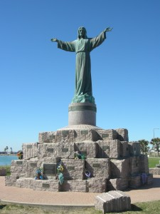 A statue (Padre) in our park honouring all the ships that left area and where lost at sea