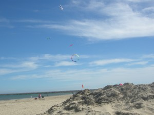 A nice breeze at the beach for kite flying