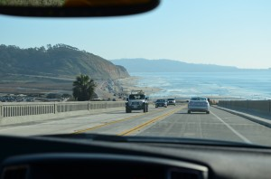 Coastal  drive toward La Jolla and Torrey Pines - famous PGA golf course