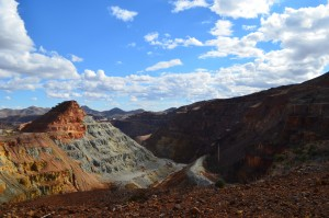 Open pit Copper Mine right at the edge of our RV Park