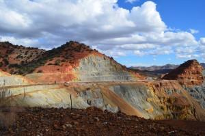Open copper mine