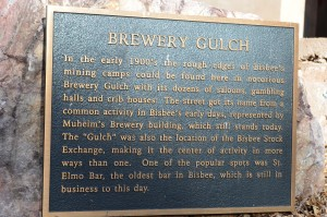Famous Brewery Gulch - dozens of saloons, gambling and crib houses(brothels) in the late 1800's