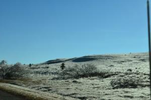 Brrrr! -frosty hills