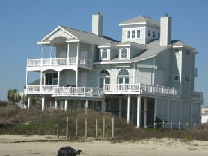 One of many large beach houses