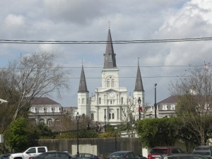 Iconic downtown French Quarter Catholic Church
