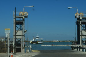 A short ferry ride at Port Aransas, TX - free 24 hour service