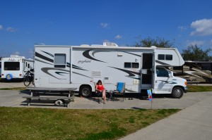 Valentines Day at our RV site. It was VERY hot and sunny. Just waiting for parade time.