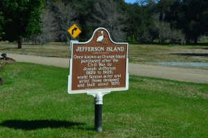 Jefferson Island - name after actor and artist Joseph Jefferson