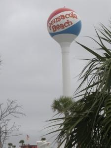 The Pensacola Beach water tower is a beach ball!