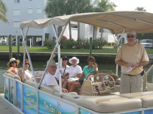 Our Gang on our Pontoon boat