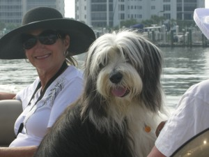 Jazz and Aunt Donna enjoying the ride