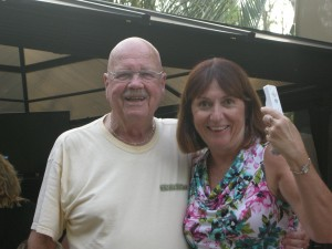Kathy and her Wii partner Bob (Maryland)