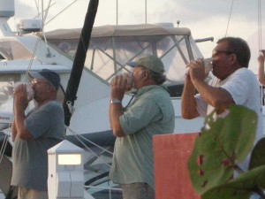"The ""Conch Band""  - blowing conch shells to celebrate the Sunset and the transition from day to night"