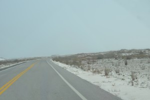 Our drive from Pensacola Beach to Destin. Is that snow on the ground - nope, it's sand