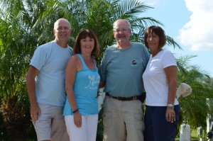 Us and Wayne and Lynn at our place