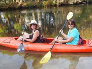Lynn and I enjoying our Kayak ride